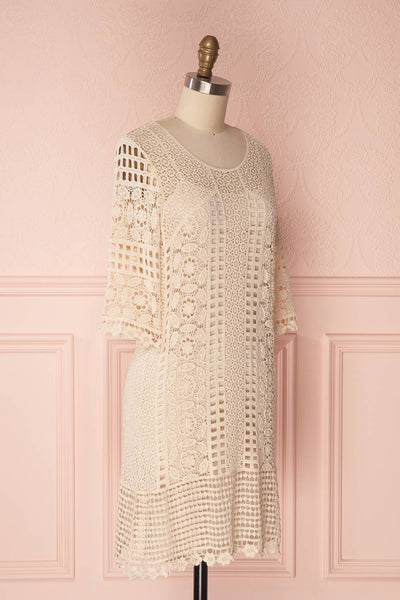 Acacie Beige Crocheted Lace Tunic Dress | Boutique 1861 4