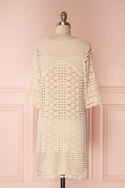 Acacie Beige Crocheted Lace Tunic Dress | Boutique 1861 6