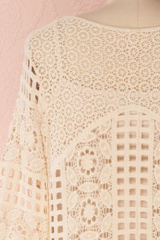 Acacie Beige Crocheted Lace Tunic Dress | Boutique 1861 7