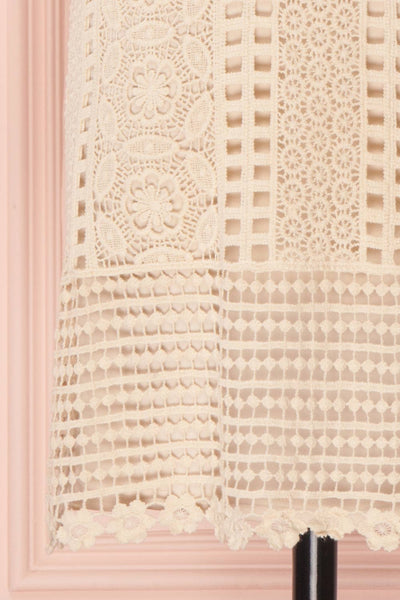 Acacie Beige Crocheted Lace Tunic Dress | Boutique 1861 9