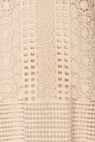 Acacie Beige Crocheted Lace Tunic Dress | Boutique 1861 10