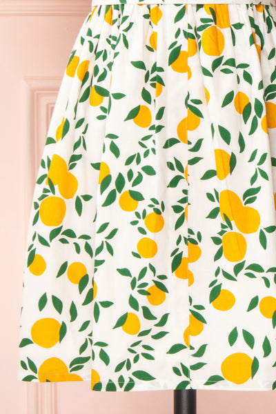 Achillea White Lemon Print Shirt Dress | Boutique 1861 skirt