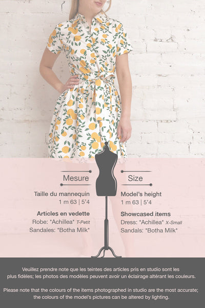 Achillea White Lemon Print Shirt Dress | Boutique 1861 template