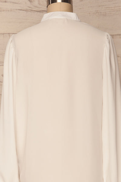 Acton Day White Pleated Button Down Shirt | La Petite Garçonne 6