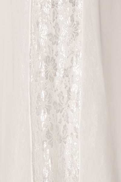 Adalgisa White & Silvery Lace Mermaid Bridal Dress | Boudoir 1861 9