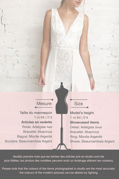 Adalgisa White & Silvery Lace Mermaid Bridal Dress | Boudoir 1861 11