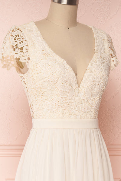 Adalia Cream Lace Bodice Maxi Bridal Gown | Boutique 1861 4