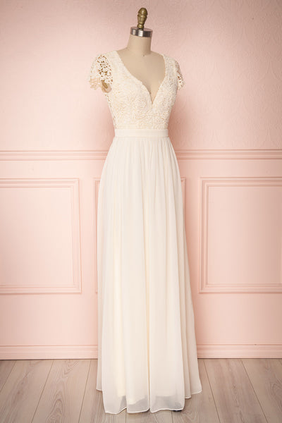 Adalia Cream Lace Bodice Maxi Bridal Gown | Boutique 1861 3
