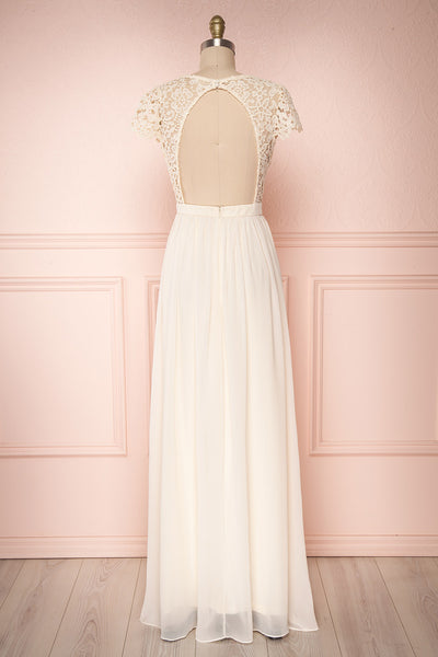 Adalia Cream Lace Bodice Maxi Bridal Gown | Boutique 1861 5
