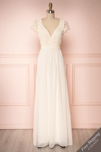 Adalia Cream Lace Bodice Maxi Bridal Gown | Boutique 1861 1