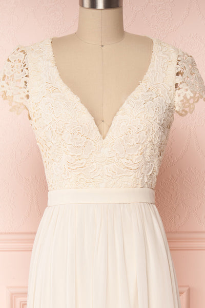 Adalia Cream Lace Bodice Maxi Bridal Gown | Boutique 1861 6