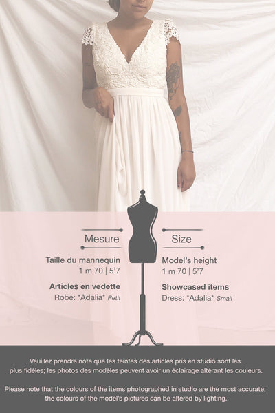 Adalia Cream Lace Bodice Maxi Bridal Gown | Boutique 1861 template