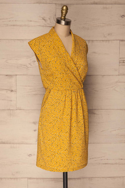 Adegem Yellow Patterned A-Line Summer Dress | La Petite Garçonne 3