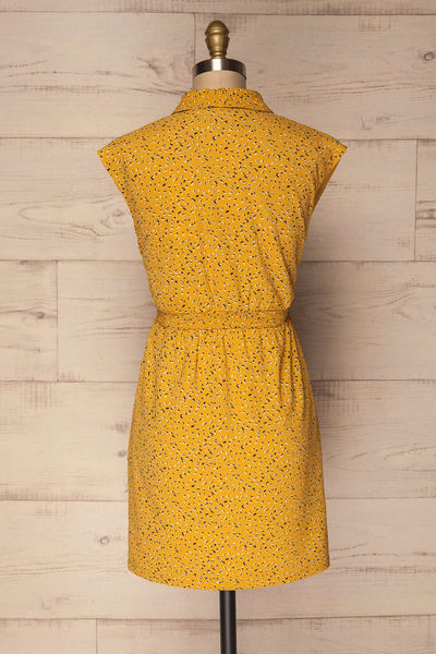 Adegem Yellow Patterned A-Line Summer Dress | La Petite Garçonne 5