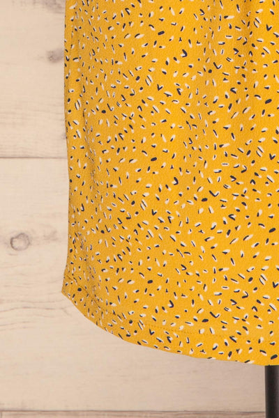 Adegem Yellow Patterned A-Line Summer Dress | La Petite Garçonne 7