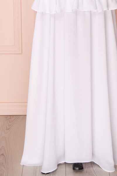 Adeltrude White Ruffled Off-Shoulder Maxi Dress | Boudoir 1861 9