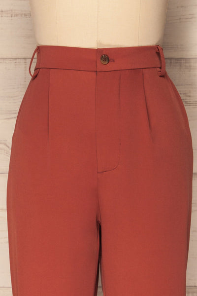 Adhami Brick Red Straight Leg Dress Pants | La Petite Garçonne 3