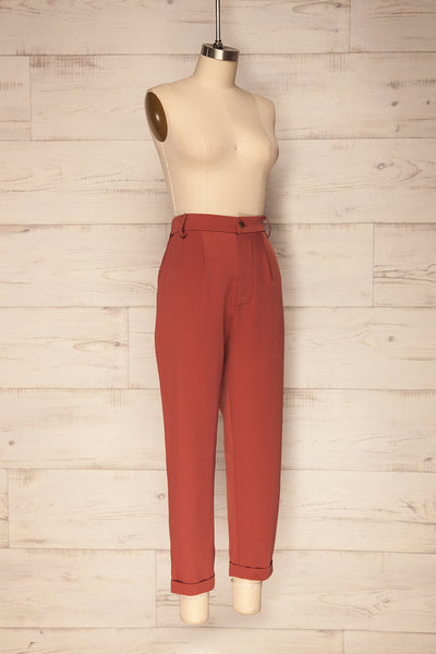 Adhami Brick Red Straight Leg Dress Pants | La Petite Garçonne 4