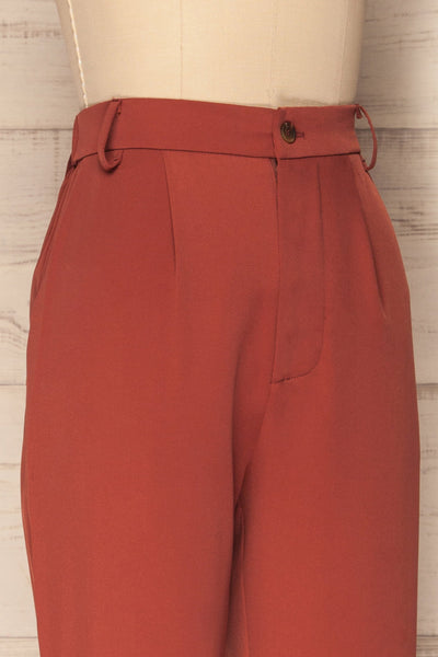 Adhami Brick Red Straight Leg Dress Pants | La Petite Garçonne 5