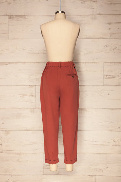 Adhami Brick Red Straight Leg Dress Pants | La Petite Garçonne 6