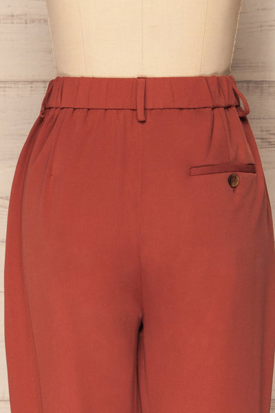 Adhami Brick Red Straight Leg Dress Pants | La Petite Garçonne 7