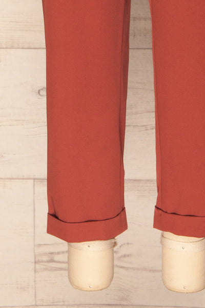 Adhami Brick Red Straight Leg Dress Pants | La Petite Garçonne 8