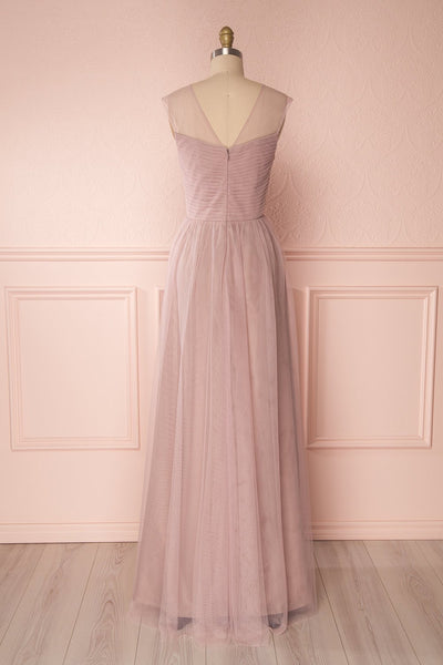 Adifa Dusty Rose Net Tulle Sleeveless A-Line Gown | Boudoir 1861 6