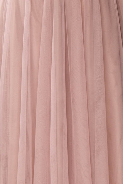 Adifa Dusty Rose Net Tulle Sleeveless A-Line Gown | Boudoir 1861 8