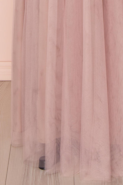 Adifa Dusty Rose Net Tulle Sleeveless A-Line Gown | Boudoir 1861 9