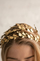 Adinostyle Gold Leaves & Flowers Headband | Boudoir 1861