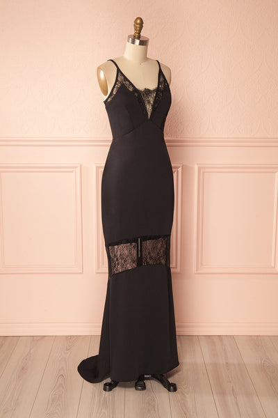 Adli Black Mermaid Gown with Lace Details | Boutique 1861 3