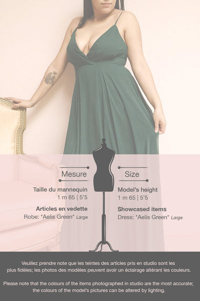 Aelis Green Pleated Plunging V-Neckline Gown | Boudoir 1861 template