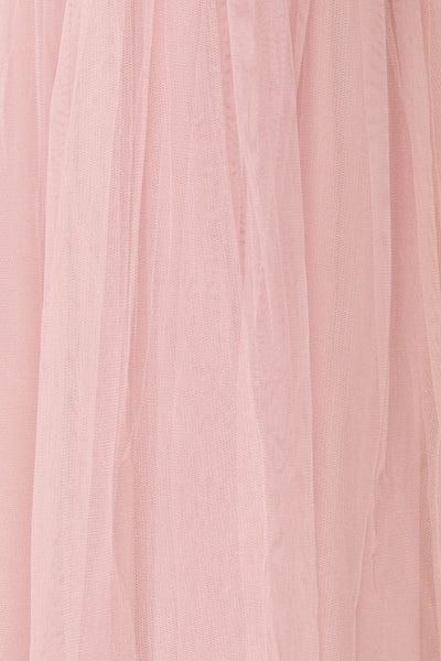 Aerie Dusty Pink Tulle & Mesh A-Line Maxi Dress | Boutique 1861 fabric detail