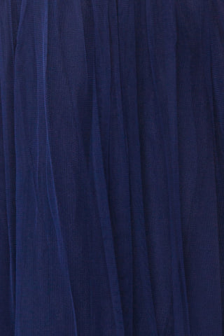 Aerie Navy Blue Tulle & Mesh A-Line Maxi Dress | Boutique 1861 fabric detail