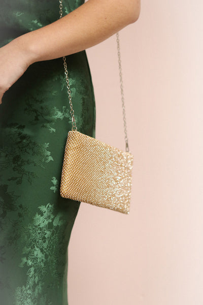 Agave Gold Crystal Clutch | Sac à Main | Boutique 1861 on model