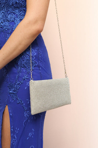 Agave Silver Crystal Clutch | Boutique 1861 on model