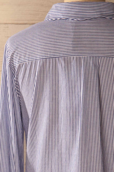 Agneda - Striped patch shirt 7