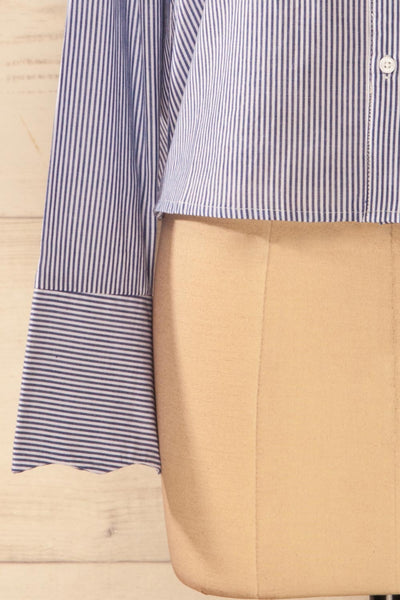 Agneda - Striped patch shirt 8