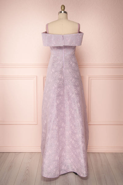 Agnek Lilas Purple Embroidered High-Low Gown | Boutique 1861 5