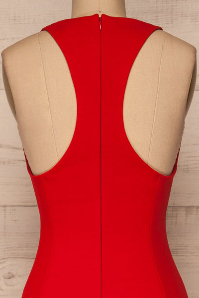 Agnolia Red Cocktail Dress | Robe | La Petite Garçonne back close-up