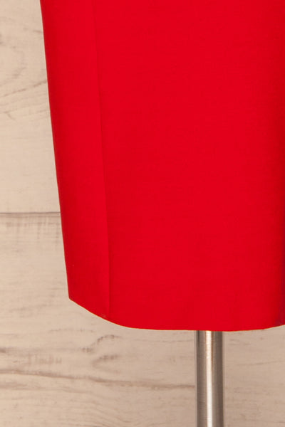 Agnolia Red Cocktail Dress | Robe | La Petite Garçonne bottom close-up