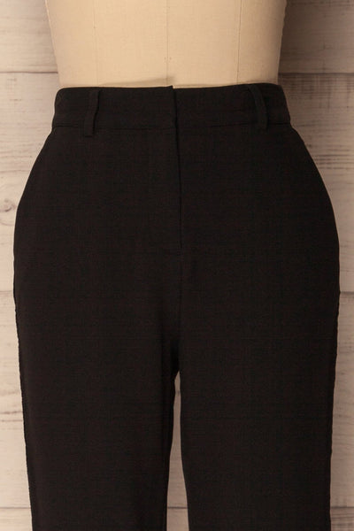 Agnova Black Straight Leg Pants with Studs | La Petite Garçonne 2