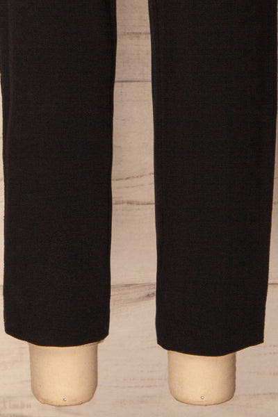 Agnova Black Straight Leg Pants with Studs | La Petite Garçonne 7