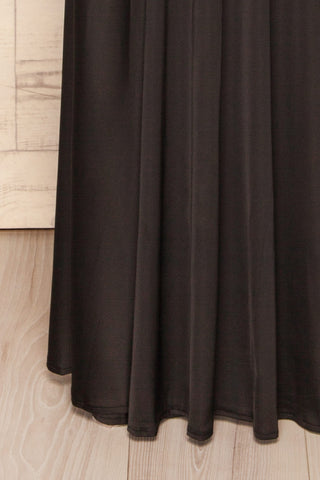 Agras Black Satin Off-Shoulder Maxi Dress | La Petite Garçonne 6
