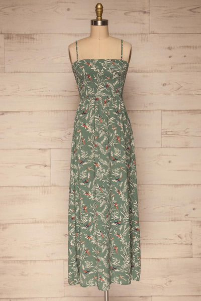 Aguacillas Blue Patterned Maxi Dress | La petite garçonne front view