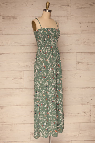 Aguacillas Blue Patterned Maxi Dress | La petite garçonne side view