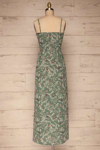 Aguacillas Blue Patterned Maxi Dress | La petite garçonne back view