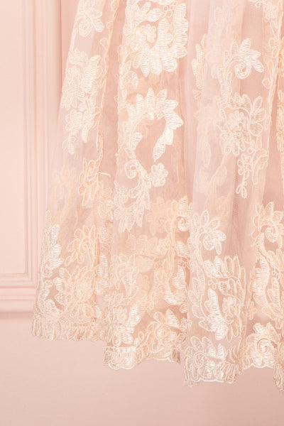 Agun Rose Pink Floral Embroidered A-Line Dress | Boutique 1861 8