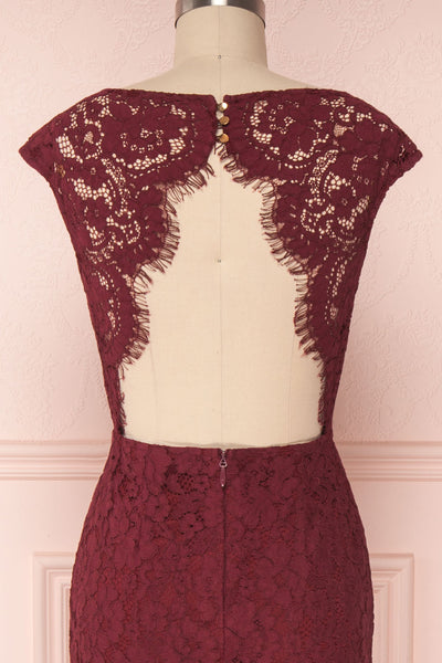 Ahouva | Burgundy Lace Gown
