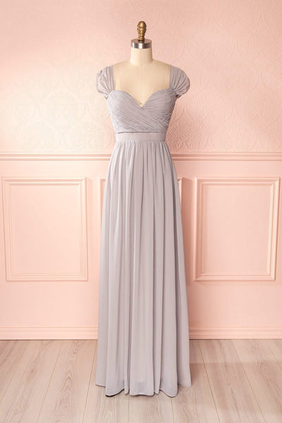 Aimi Moon Grey Sweetheart Bridesmaid Gown | Boudoir 1861